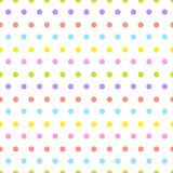 Modèle sans couture mignon avec Dots Ornament On White Background coloré illustration de vecteur