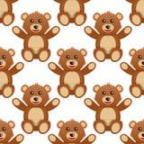 Modèle sans couture mignon d'ours de nounours Images libres de droits
