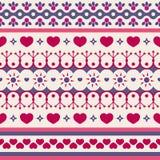 Modèle sans couture mignon pour le jour du ` s de Valentine Photos libres de droits