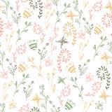 Modèle sans couture minimalistic simple de fleur Photographie stock