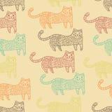 Modèle sans couture modelé de chats Image libre de droits