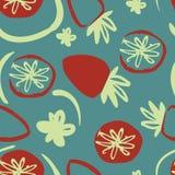 Modèle sans couture moderne de fraise tirée par la main pour votre conception Image libre de droits