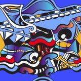 Modèle sans couture moderne graphique Art de mur de rue Vecteur illustration libre de droits
