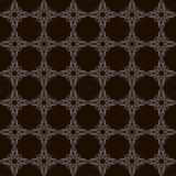 Modèle sans couture monochrome d'art plat simple avec le fond noir illustration stock