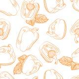 Modèle sans couture monochrome de paprika Image stock