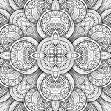 Modèle sans couture monochrome de tuile, kaléidoscope de fantaisie Image stock
