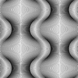 Modèle sans couture monochrome des lignes fond abstrait illustration libre de droits