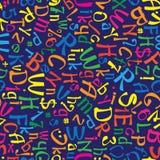 Modèle sans couture multicolore d'alphabet anglais Image stock