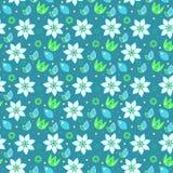Modèle-sans couture-nature-fleur Image libre de droits
