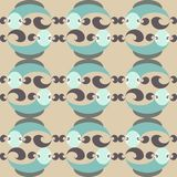 Modèle-sans couture-nature-poissons Image stock