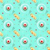Modèle-sans couture-nature-sushi Illustration Stock