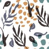 Modèle sans couture naturel abstrait illustration stock