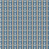 Modèle sans couture nautique vertical avec des ancres Illustration Stock