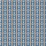 Modèle sans couture nautique vertical avec des ancres Illustration de Vecteur