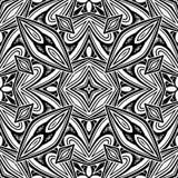 Modèle sans couture noir et blanc avec le motif de mosaïque Image libre de droits
