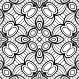 Modèle sans couture noir et blanc avec le motif de mosaïque Images stock