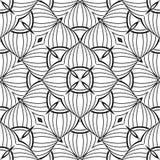 Modèle sans couture noir et blanc avec le motif de mosaïque Image stock