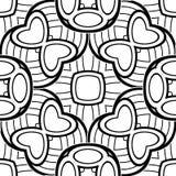 Modèle sans couture noir et blanc avec le motif de mosaïque Images libres de droits