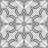 Modèle sans couture noir et blanc avec le motif de mosaïque Photo stock