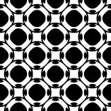 Modèle sans couture noir et blanc, texture géométrique Photos libres de droits