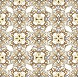 Modèle sans couture oriental de luxe d'or Contexte décoratif d'ornement pour le tissu, textile, papier d'emballage Vecteur illustration de vecteur