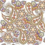 Modèle sans couture oriental de Paisley dans des couleurs en pastel Contexte décoratif d'ornement pour le tissu, textile, papier  illustration de vecteur
