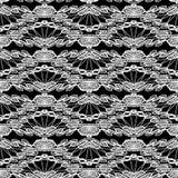 Modèle sans couture - ornement floral de dentelle - blanc et noir illustration de vecteur