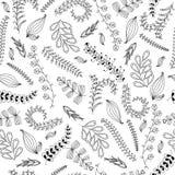 Modèle sans couture ornemental artistique tiré par la main avec l'elem floral Images libres de droits