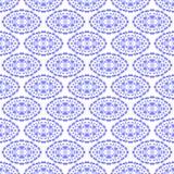 Modèle sans couture ornemental bleu Texture sans fin Ornement géométrique oriental illustration de vecteur
