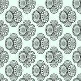 Modèle sans couture ornemental décoratif de textile ethnique noir et blanc dans le vecteur Fond fleuri sans fin abstrait Image libre de droits