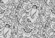 Modèle sans couture ornemental de nature décorative Style de zen-tagle Image libre de droits