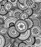 Modèle sans couture ornemental de nature décorative Style de zen-tagle Image stock