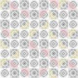 Modèle sans couture ornemental de tuile grise illustration stock