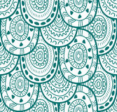 Modèle sans couture ornemental indigène décoratif de textile ethnique dans le vecteur Fond sans fin Photo libre de droits