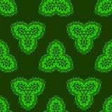 Modèle sans couture ornemental vert Texture sans fin Ornement géométrique oriental illustration libre de droits