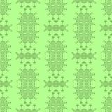 Modèle sans couture ornemental vert Texture sans fin Ornement géométrique oriental illustration stock
