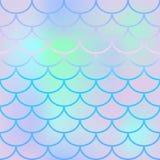 Modèle sans couture pâle d'échelle de poissons Texture ou fond carrée d'échantillon de fishscale illustration de vecteur