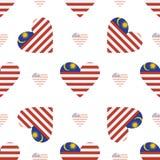 Modèle sans couture patriotique de drapeau de la Malaisie illustration libre de droits