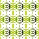 Modèle sans couture peint géométrique Image stock