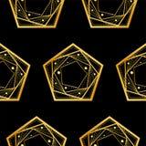 Modèle sans couture, pentagones sur le fond noir Illustration de vecteur illustration libre de droits