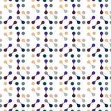 Modèle sans couture plat de molécules pour le tissu, le papier et le web design Photos libres de droits