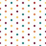 Modèle sans couture pointillé coloré Fond blanc Photos libres de droits