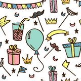 Modèle sans couture pour des parties et des vacances d'enfants illustration stock