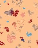 Modèle sans couture pour le jour du ` s de St Valentine Image libre de droits