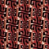 Modèle sans couture principal grec rouge Photo libre de droits