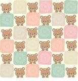 Modèle sans couture puéril avec l'ours de nounours illustration de vecteur