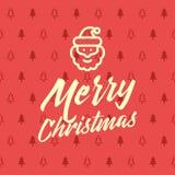 Modèle sans couture réglé d'icône de Noël Fond rouge et jaune de vecteur plat de vacances de Noël et d'hiver Photos libres de droits