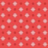 Modèle sans couture réglé de flocon de neige d'icône de Noël Fond plat de vecteur d'icônes de Noël Image stock