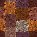 Modèle sans couture rayé et ondulé grunge de tissu d'édredon Photo stock