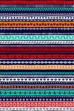 Modèle sans couture rayé géométrique de griffonnage coloré simple, vecteur Image stock